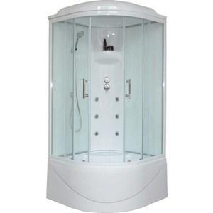 Душевая кабина Royal Bath 90х90х217 стекло белое/прозрачное (RB90BK3-WT) душевая кабина royal bath 120х80х217 стекло левая белое прозрачное rb8120bp3 wt l