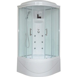 Душевая кабина Royal Bath 100х100х217 стекло белое/прозрачное (RB100BK3-WT)