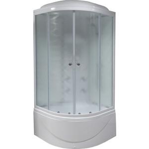 Душевая кабина Royal Bath 100х100х217 стекло белое/шиншилла (RB100BK3-WC)