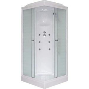 Душевая кабина Royal Bath 80х80х217 стекло белое/шиншилла (RB80HP3-WC)