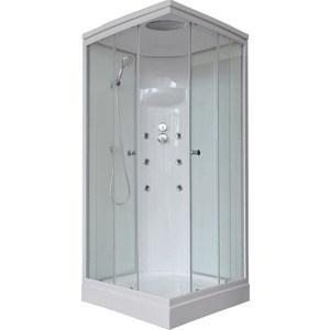 Душевая кабина Royal Bath 90х90х217 стекло белое/прозрачное (RB90HP3-WT) душевая кабина royal bath 120х80х217 стекло левая белое прозрачное rb8120bp3 wt l