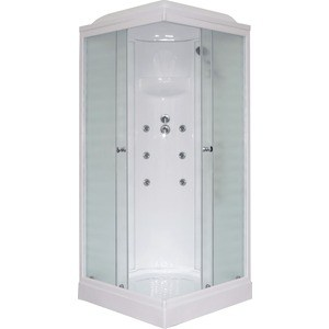 Душевая кабина Royal Bath 90х90х217 стекло белое/шиншилла (RB90HP3-WC)