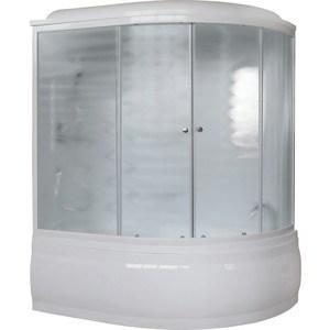 Купить душевая кабина Royal Bath 170х100х225 стекло шиншилла левая (RB170ALP-C-L) (678807) в Москве, в Спб и в России