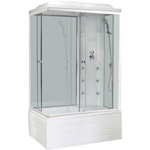 Душевая кабина Royal Bath 100х80х217 стекло правая белое/прозрачное (RB8100BP3-WT-R)