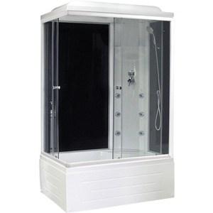 Душевая кабина Royal Bath 120х80х217 стекло правая черное/прозрачное (RB8120BP3-BT-R)