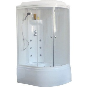 Душевая кабина Royal Bath 120х80х217 стекло белое/прозрачное левая (RB8120BK3-WT-L) aquaton призма м l левостороннее белое