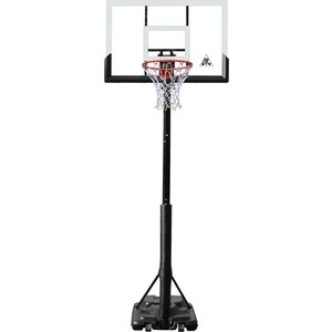Баскетбольная мобильная стойка DFC STAND52P 132x80 см поликарбонат раздижная регулировка цена и фото