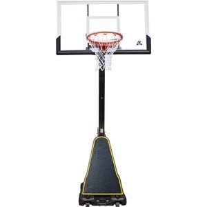 Баскетбольная мобильная стойка DFC STAND54P2 136x80 см поликарбонат цена и фото