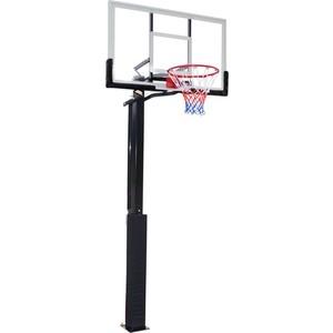 Баскетбольная стационарная стойка DFC ING50A 127x80 см акрил dfc stand54g 136x80cm