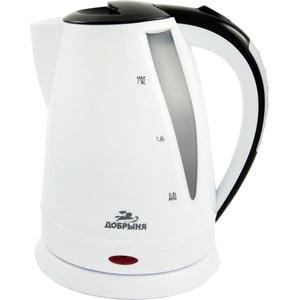 Чайник электрический Добрыня DO-1225, бело-черный