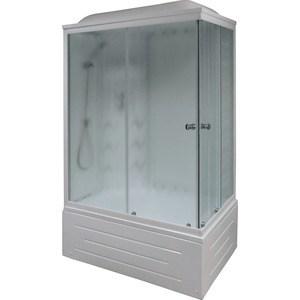 Фотография товара душевая кабина Royal Bath 120х80х217 стекло левая белое/шиншилла (RB8120BP3-WC-L) (680695)