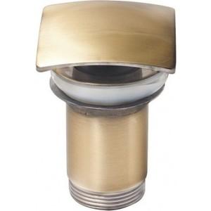 Донный клапан для раковины Kaiser квадрат, старая бронза Antique (8033An) донный клапан для раковины без перелива kaiser квадрат хром 8034