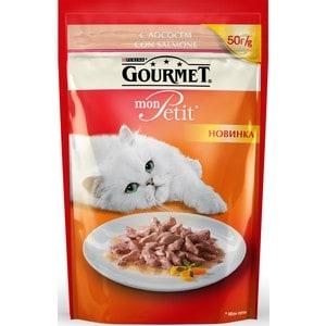 Паучи Gourmet Mon Petit с лососем для кошек 50г (12287079)