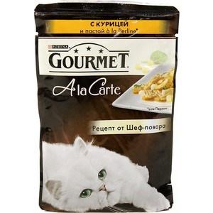 Паучи Gourmet A la Carte с курицей и пастой Perline рецепт от шеф-повара для кошек 85г (12242400) gourmet a la carte пауч для кошек курица с пастой в подливе 85 г