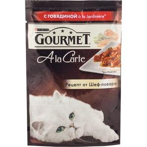 Паучи Gourmet A la Carte с говядиной Jardiniere рецепт от шеф-повара для кошек 85г (12242376) gourmet a la carte пауч для кошек курица с пастой в подливе 85 г