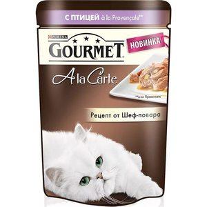 Паучи Gourmet A la Carte с птицей Provencale рецепт от шеф-повара для кошек 85г (12266707) gourmet a la carte пауч для кошек домашняя птица с овощами 85 г