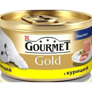 Консервы Gourmet Gold паштет с курицей для кошек 85г (12032582) корм gourmet gold тунец паштет 85g для кошек 61722