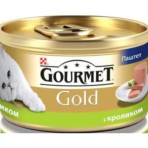 Консервы Gourmet Gold паштет с кроликом для кошек 85г (12182548) корм gourmet gold тунец паштет 85g для кошек 61722