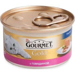 Консервы Gourmet Gold паштет с говядиной для кошек 85г (12215249) корм gourmet gold тунец паштет 85g для кошек 61722