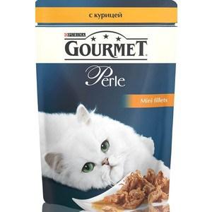 Паучи Gourmet Perle Mini Fillets с курицей для кошек 85г (12222445) гурме консервы пауч с лососем для кошек gourmet perle mini fillets 85 г