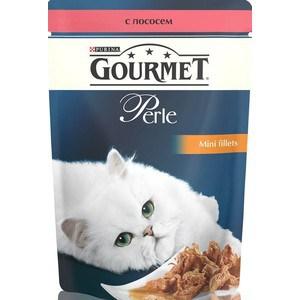 Паучи Gourmet Perle Mini Fillets с лососем для кошек 85г (12222480) гурме консервы пауч с лососем для кошек gourmet perle mini fillets 85 г