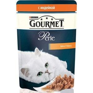 Паучи Gourmet Perle Mini Fillets с индейкой для кошек 85г (12222524) гурме консервы пауч с лососем для кошек gourmet perle mini fillets 85 г