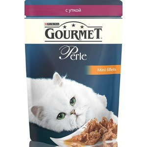Паучи Gourmet Perle Mini Fillets с уткой для кошек 85г (12222486) гурме консервы пауч с лососем для кошек gourmet perle mini fillets 85 г