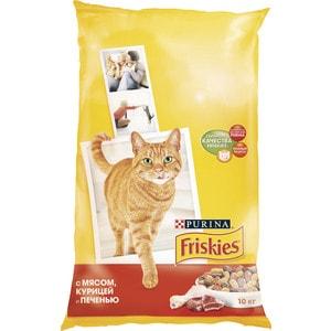 Сухой корм Friskies с мясом, курицей и печенью для кошек 10кг (12150595)