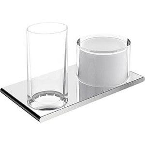 Держатель двойной со стаканом и мыльнице Keuco Edition 400 (11553019000)
