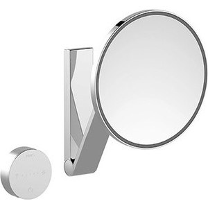 Зеркало косметическое круглое Keuco iLook_move, с подсветкаой и сенсорной панелью (17612019002) зеркало косметическое прямоугольное keuco ilook move без подсветки 17613010000