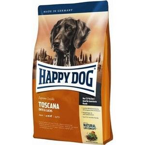 Сухой корм Happy Dog Supreme Sensible Adult Toscana Duck & Salmon с уткой и лососем для взрослых собак 12,5кг (03542) сухой корм happy dog mini adult 1 10kg neuseeland lamb