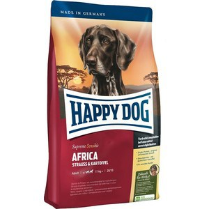Сухой корм Happy Dog Supreme Sensible Adult 11kg+ Africa Ostrich &Potato с мясом страуса и картофелем для собак средних и крупных пород 4кг (03547) сухой корм happy dog supreme sensible adult 11kg neuseeland lamb