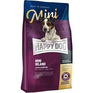 Сухой корм Happy Dog Mini Adult 1-10kg Irland Salmon & Rabbit с лососем и кроликом для взрослых собак мелких пород 1кг (60112) сухой корм happy dog mini adult 1 10kg neuseeland lamb