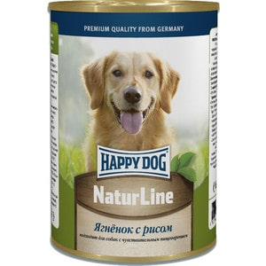 Консервы Happy Dog Natur Line ягненок с рисом для собак 400г (71434)
