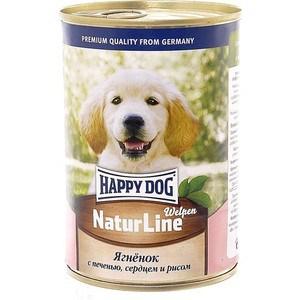 Консервы Happy Dog Natur Line Welpen ягненок с печенью, сердцем и рисом для щенков 400г (72189)