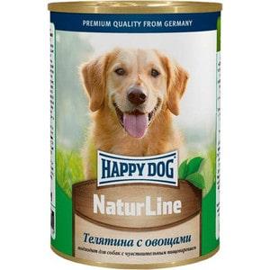 Консервы Happy Dog Natur Line телятина с овощами для собак 400г (71441) консервы для собак aras premium select с бараниной овощами и овсяными хлопьями 195 г