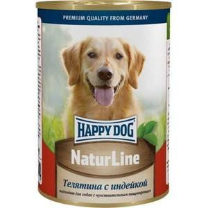 Консервы Happy Dog Natur Line телятина с индейкой для собак 400г (71458)