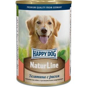 Консервы Happy Dog Natur Line телятина с рисом для собак 400г (71465)