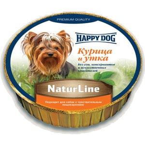 Консервы Happy Dog Natur Line курица и утка для собак 85г (71500) консервы верные друзья курица для собак 650г