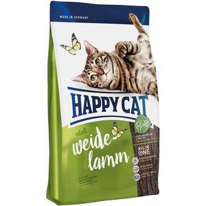 Сухой корм Happy Cat Adult Farm Lamb пастбищный ягненок для взрослых кошек 4кг (70031/70189) сухой корм happy dog mini adult 1 10kg neuseeland lamb