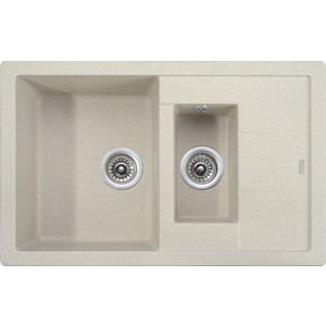 Кухонная мойка Kaiser Granit 78x50x19 песочный Sand (KG2M-7850-S) weissgauff quadro 420 eco granit песочный