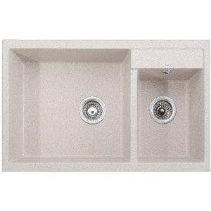 Кухонная мойка Kaiser Granit 80x50x19 песочный мрамор Sand Beige (KG2M-8050-SB) weissgauff quadro 420 eco granit песочный
