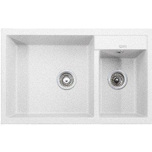 Кухонная мойка Kaiser Granit 80x50x19 белый White (KG2M-8050-W) мойка кухонная weissgauff quadro 800 eco granit белый
