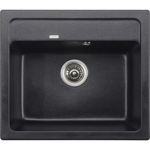 Кухонная мойка Kaiser Granit 57x50x20 черный мрамор Black Pearl (KGM-5750-BP) цена