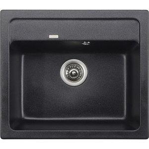 Кухонная мойка Kaiser Granit 57x50x20 черный мрамор Black Pearl (KGM-5750-BP) бюстгальтер patti black pearl черный 75c ru