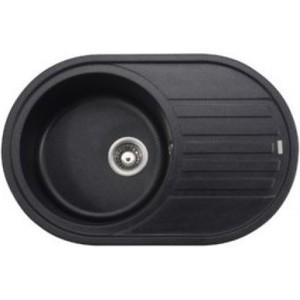 Кухонная мойка Kaiser Granit 78x50x22 черный мрамор Black Pearl (KGM-7750-BP) мойка кухонная weissgauff quadro 575 eco granit белый