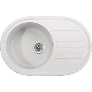 Кухонная мойка Kaiser Granit 78x50x22 белый White (KGM-7750-W) мойка кухонная weissgauff quadro 575 eco granit белый