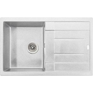 Кухонная мойка Kaiser Granit 78x50x19 белый White (KGM-7850-W) мойка кухонная weissgauff quadro 575 eco granit белый