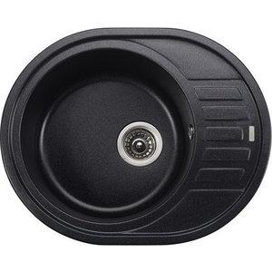 Кухонная мойка Kaiser Granit 62x50x22 черный мрамор Black Pearl (KGMO-6250-BP) фон visico bp 026 black white blue
