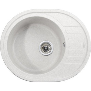 Кухонная мойка Kaiser Granit 62x50x22 белый White (KGMO-6250-W) мойка кухонная weissgauff quadro 575 eco granit белый